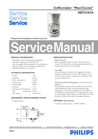 Service Manual Philips Maxi Cucina HD7534/54