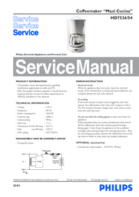Service Manual Philips Maxi Cucina HD7536/54