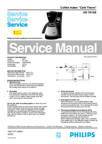 Manual de servicio Philips Café Therm HD 7612/6