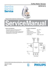 Manual de serviço Philips Senseo HD7810/10