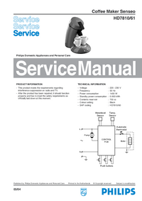 Service Manual Philips Senseo HD7810/61