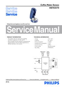 Servicehandboek Philips Senseo HD7820/70