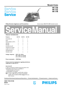 Service Manual Philips HI 170