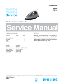 Manual de servicio Philips HI208