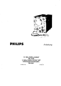 Serwis i User Manual Philips PM 3220