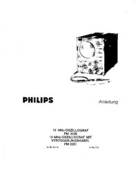 Service et Manuel de l'utilisateur Philips PM 3220