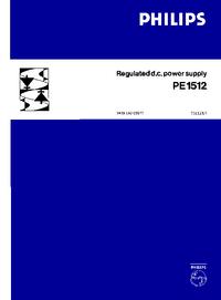 Bedienungsanleitung mit Schaltplan Philips PE1512