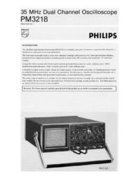 Gegevensblad Philips PM3218
