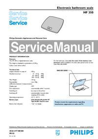manuel de réparation Philips HF 350