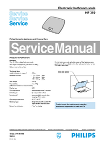 Manual de serviço Philips HF 350