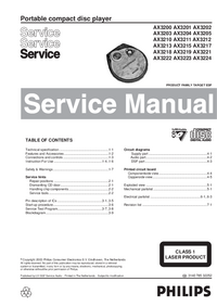 Service Manual Philips AX3203