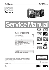 Service Manual Philips FW-D750
