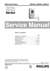 Manual de servicio Philips HDD070