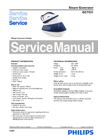 Manual de servicio Philips GC7521