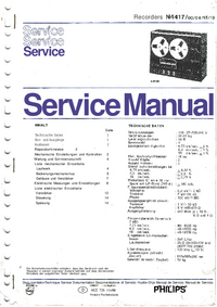 Service Manual Philips N4417/00