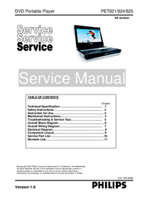 Servicehandboek Philips PET824
