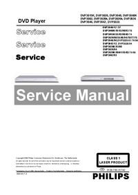 Manual de servicio Philips DVP3026