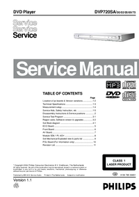 Service Manual Philips DVP720SA