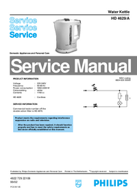 Manual de servicio Philips HD 4629/A
