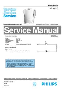 Manual de serviço Philips HD 4633/C