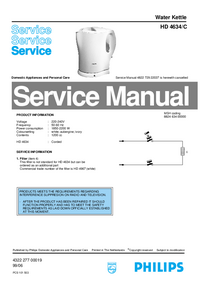 Service Manual Philips HD 4634/C