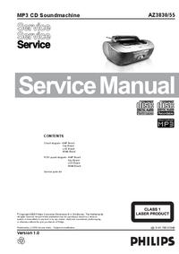Manual de serviço Philips AZ3830/55
