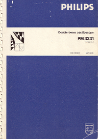 Service and User Manual Philips PM3231