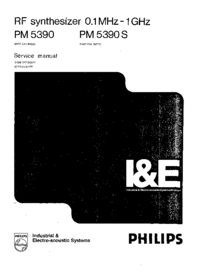 Service Manual Philips PM 5390S