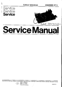 Servicehandboek Philips KT3