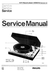 Manual de servicio Philips 22 GA 312 15Z