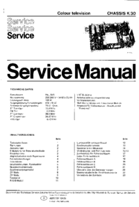 Service Manual Philips K30