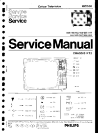 Service Manual Philips 18C636 38Z