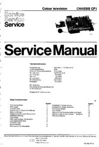 Manuale di servizio Philips CF1
