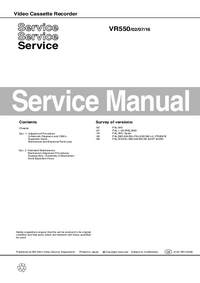 Serviceanleitung Philips VR550 16