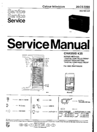 Service Manual Philips 26CS3280 02Z