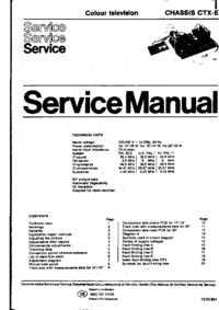 Service Manual Philips CTX-E