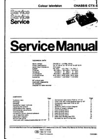 Руководство по техническому обслуживанию Philips CTX-E