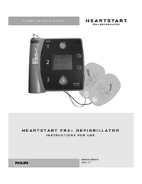 User Manual PhilipsMedical HEARTSTART FR2+ M3860A