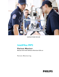 User Manual PhilipsMedical IntelliVue MP2