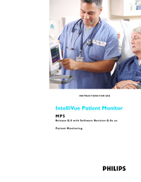 User Manual PhilipsMedical IntelliVue MP5