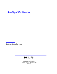 Manuale d'uso PhilipsMedical SureSigns VS1