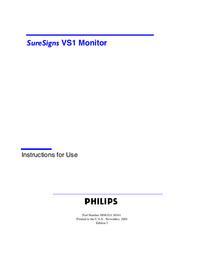 Руководство пользователя PhilipsMedical SureSigns VS1