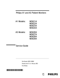 Service Manual PhilipsMedical A1 M3924A