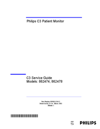 Serviceanleitung PhilipsMedical C3 862474