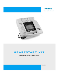 Manual del usuario PhilipsMedical Heartstart XLT M3500B