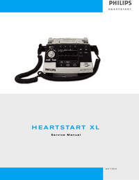 Servicehandboek PhilipsMedical M4735A HeartStart XL