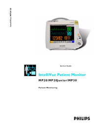 manuel de réparation PhilipsMedical IntelliVue MP20 Junior