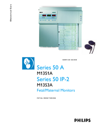 Manual de serviço PhilipsMedical Series 50 A M1351A