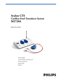 Serviceanleitung PhilipsMedical Avalon CTS M2720A