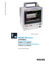 Manual de servicio PhilipsMedical M3015A